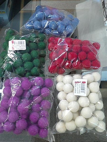perla palline di feltro