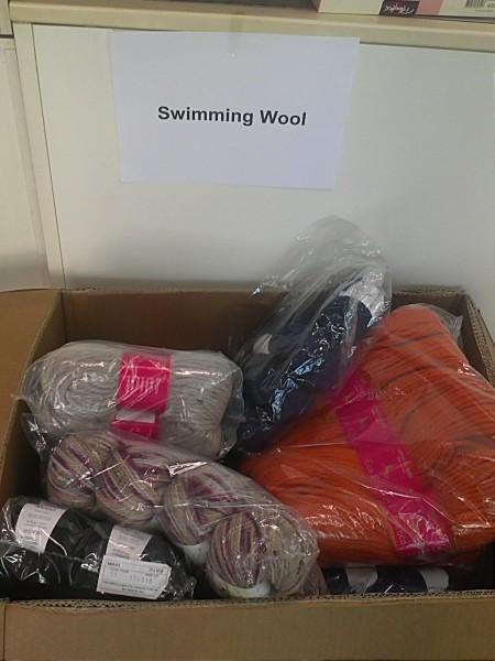 swimming wool